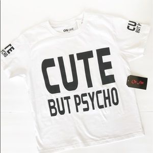 """On Fire """"Cute But Psycho"""" graphic tee"""